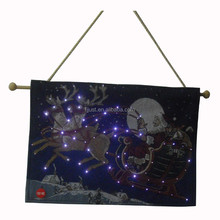 LED light wall hanging tapestry for festival decoration