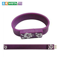 Silicone U disk and cheap usb flash drive bracelets