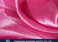 Luxurious and glossy 100% polyester satin fabric curtain raw material for hospital, hotel, office decoration