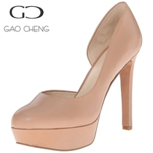 W092 women high heel leather party shoes for wholesale