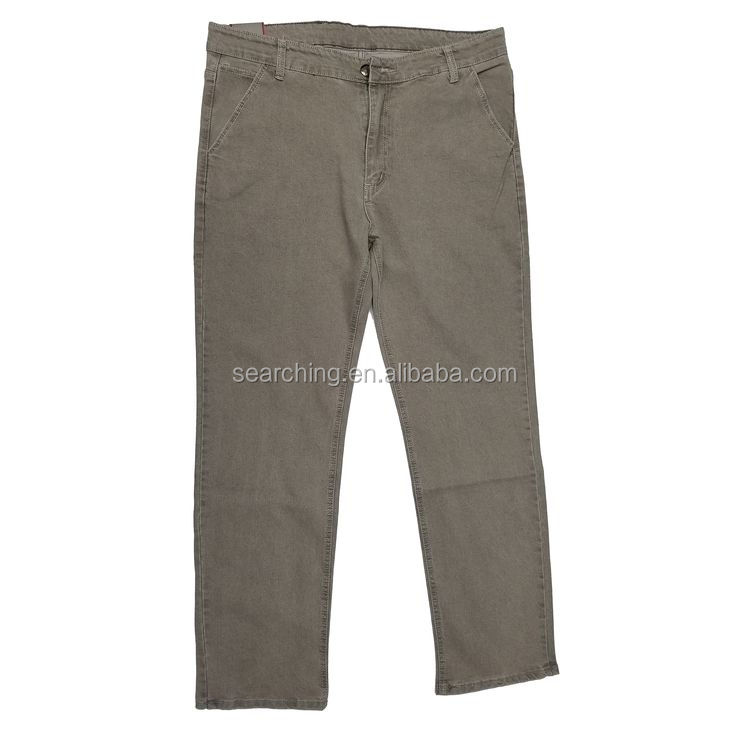 hot new 100% cotton customized cheap chino Light Khaki pants for men