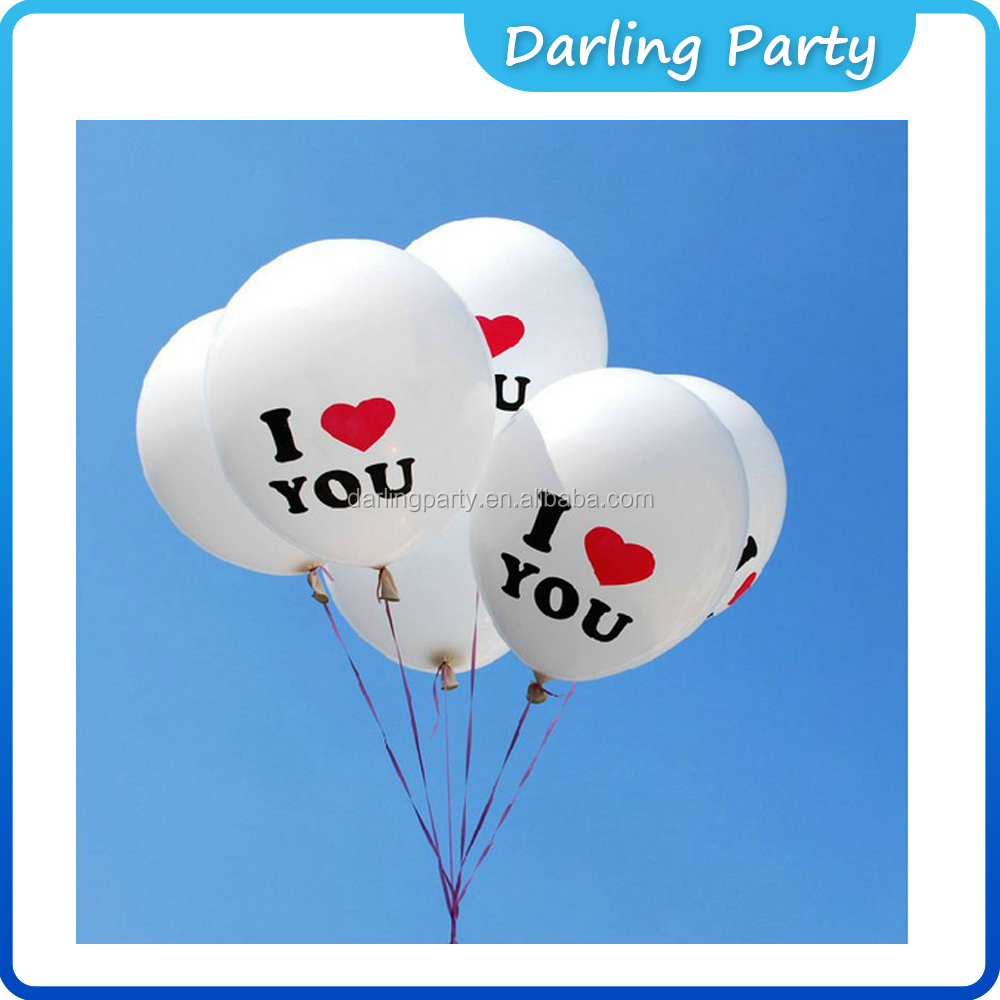 wedding and party i love you balloon