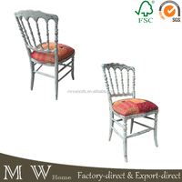 Antique wood dining chair,hot selling cheap classic design wood dining chair with soft cushion,dining room furniture
