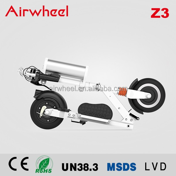 2017 Airwheel Z3 2 wheel electric standing scooter light weight 36V 350W powered electric 2 wheel pro kick scooter portable