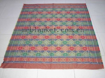 multicolor thread blanket