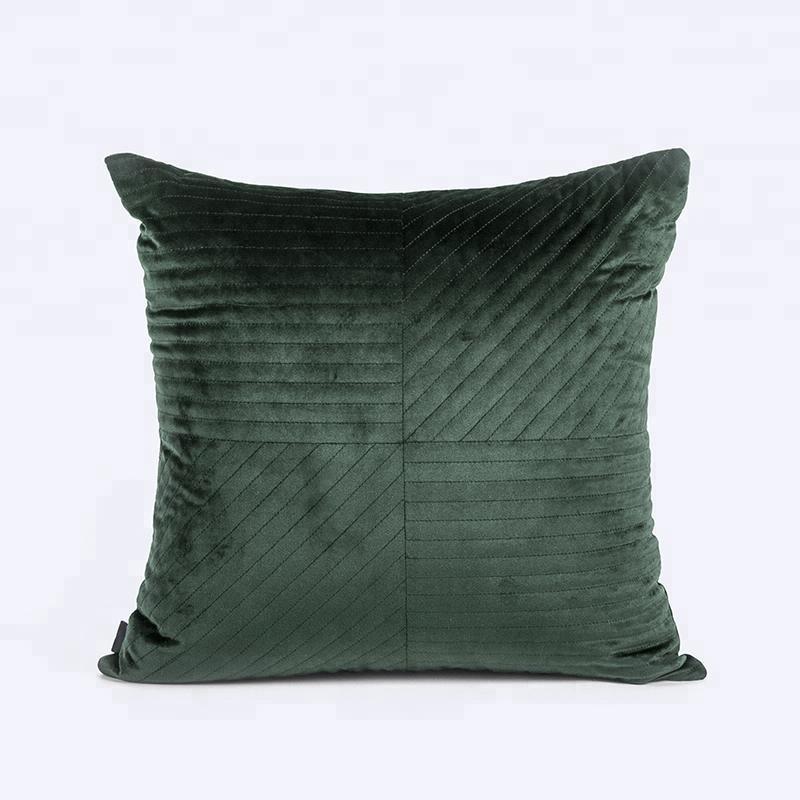 Large Cushion Covers 60 X 60 Luxury Designer Sofa Soft Quilted Dark Green  Throw Car Decorative Embroidery Velvet Cushion Covers - Buy Velvet Cushion  ...