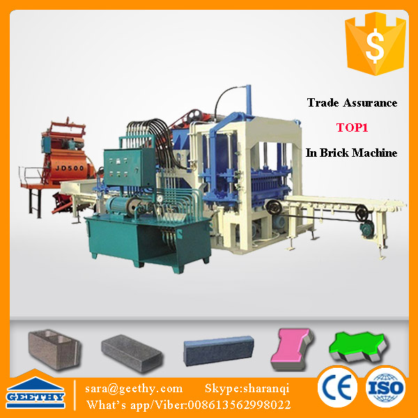 QT4-20C china cement bricks machine/auto forme for paving stones