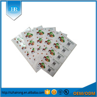 Custom adhesive sticker printer paper with film 120mm * 45mm