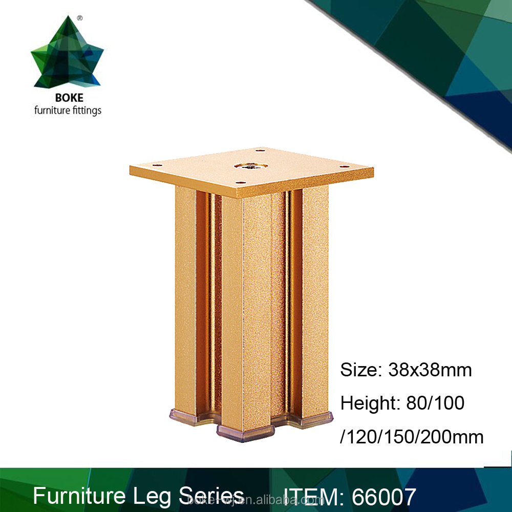 Aluminium cabinet table legs with bronze finishing