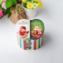 Merry Christmas Design Colorful Apple Shape Tin Box