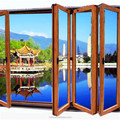 First class aluminum folding stacking doors manufacturer in Shenzhen