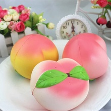 Jumbo Kawaii Squishy Slow Rising Peach Phone Straps Pendant Relieve Stress Anxiety Squeeze Toy Kid Toys Baby Educational Toy