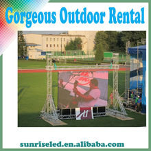 Alibaba cn ShenZhen electronics full color outdoor led display, P6.944 pantalla de exterior para rentar!!! outdoor rental.