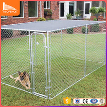 large outdoor galvanized heavy duty steel frame dog kennel run wholesale