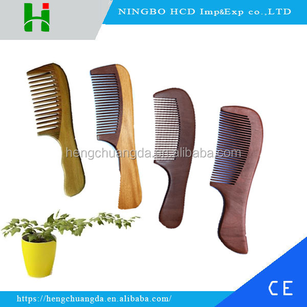 Long handle wooden hair comb custom logo