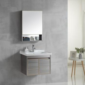 Best Price Wall Mounted Aluminum Alloy Bathroom Furniture Washroom Vanity With Mirror Cabinet