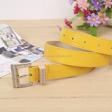 cheap manufacturer leather belt with covered buckle for leather belts