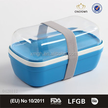 transparent tritan pastlic food container lunch box with cutlery