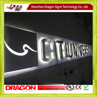 Stainless Steel Letter back lit signage led letter sign and letter light sign