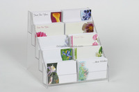 Wholesale custom acrylic gift card display stand/greeting card display rack
