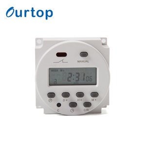 LCD Digital Power Programmable Timer AC 12V 16A Time Relay Switch 120v battery powered time switch