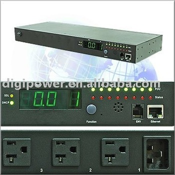 8 ports 115V IP PDU- Per Outlet Monitored/Switched, switched rack pdu 20a
