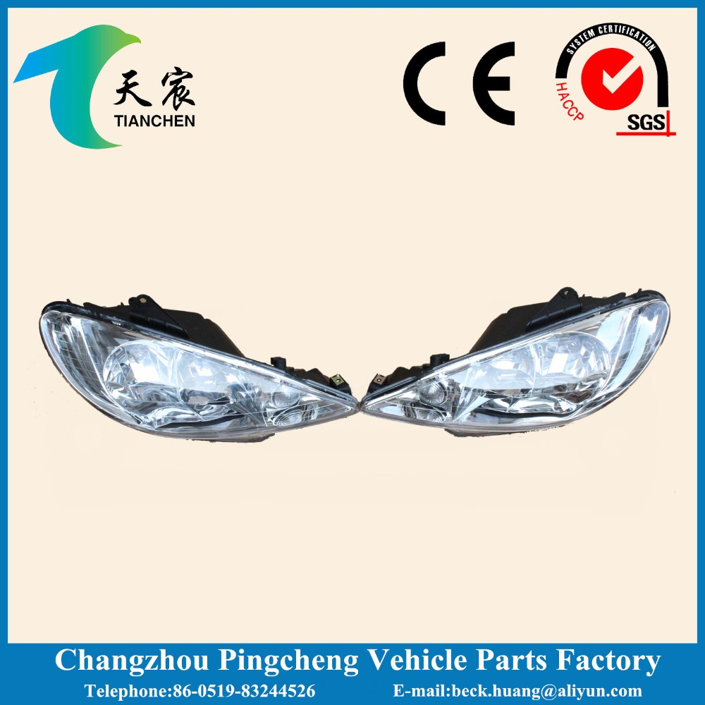 0872.76 head lamp and car head light bulb for peugeot 206