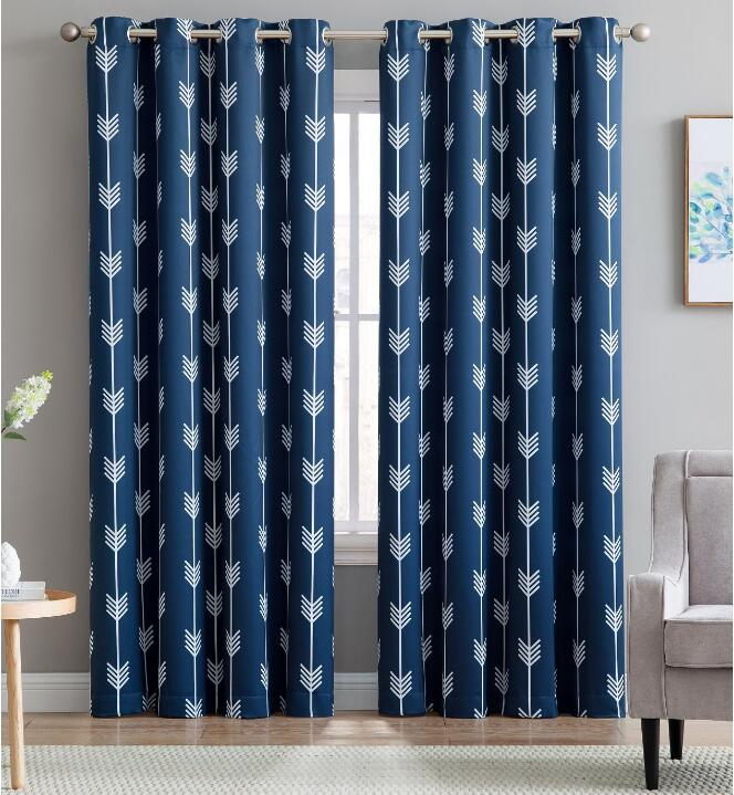 210gsm printing black out used hotel drapes printed blackout curtain
