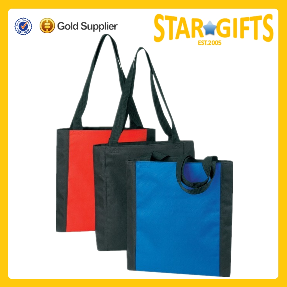 Wholesale Cheap Two Tones 600D Polyester Conference Tote Bag