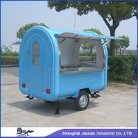 JX-FR220B Professional Custom made mobile pizza food warmer cart for sale