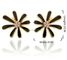 wholesale 18k solid gold the sunflower stud Earrings