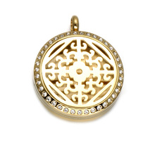 316 Stainless Steel Aromatherapy Perfume Locket Magnetic Diffuser Pendant Jewelry