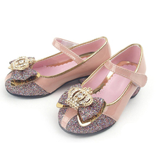 Luxurious Patent Leather And Shiny Glitter Fabric Upper With Crystal butterfly Decoration Heel Shoes