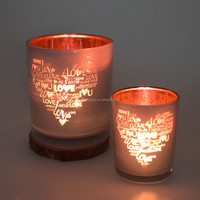 Valentine's Day glass candle holder Create a romantic atmosphere