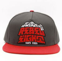 5 panel snapback hats with custom logo red and grey