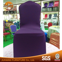 modern hot sale spandex grey/purple folding chair cover for wedding