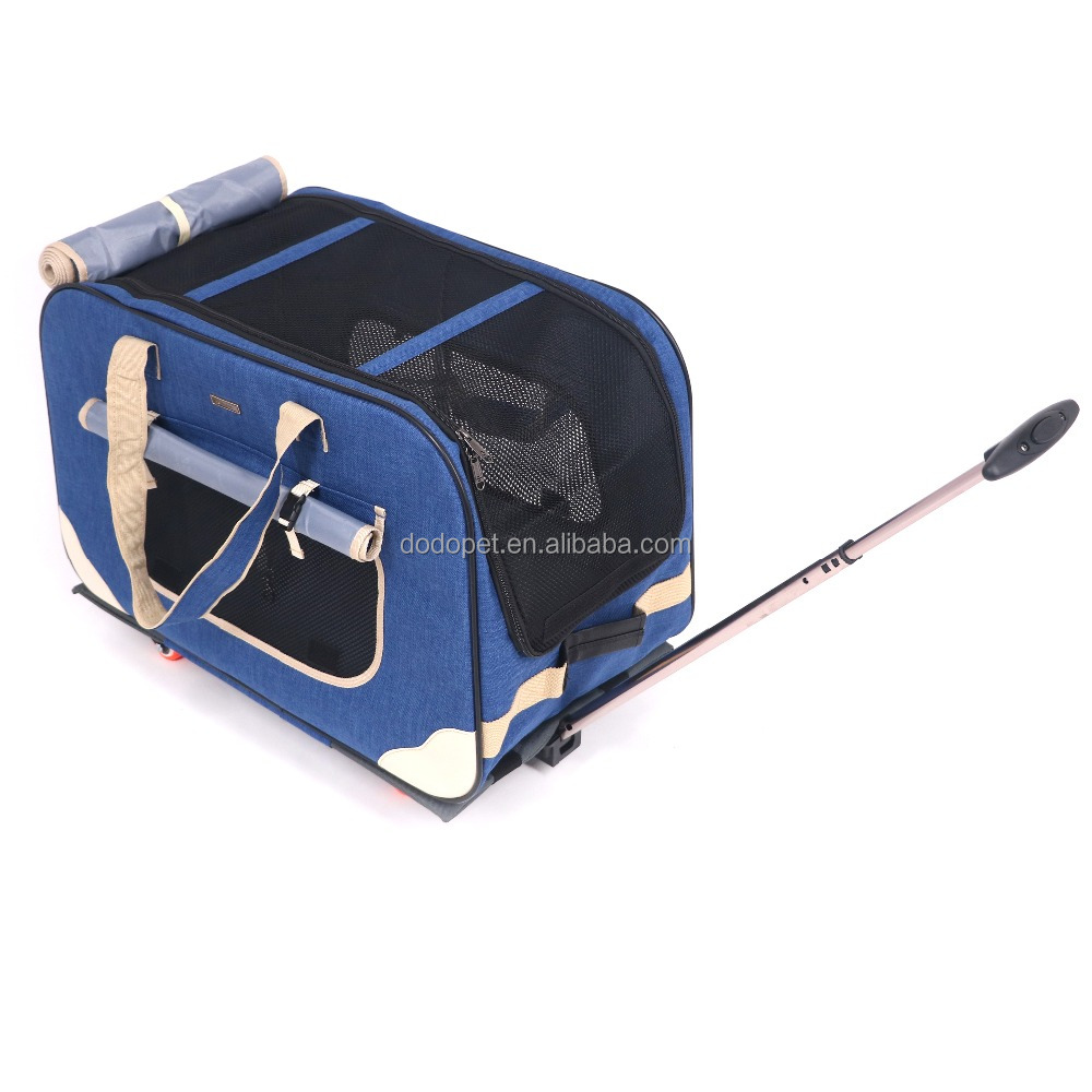 Pet Cats and Dogs Carrier pet trolley bag with wheels