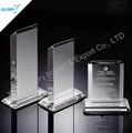 Wholesale China cheap blank award glass trophy for engraving