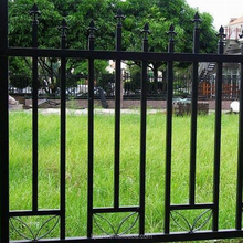 SZHL Home using double circle beautiful garden wrought iron fence