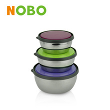 New arriving stainless steel round crisper food grade plastic container for fresh preservation