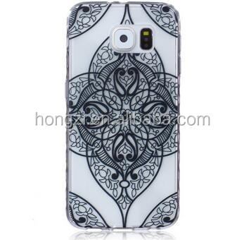 Flower Clear Mandala Henna Paisley Soft TPU Case For Sam S7 G360 G530 S6 Edge Plus S5 S4 S3 Mini Note 5 4 Butterfly Skin