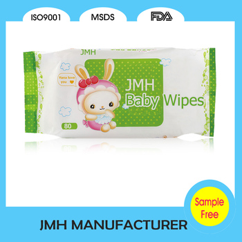2016 Private label free sample baby wet wipes