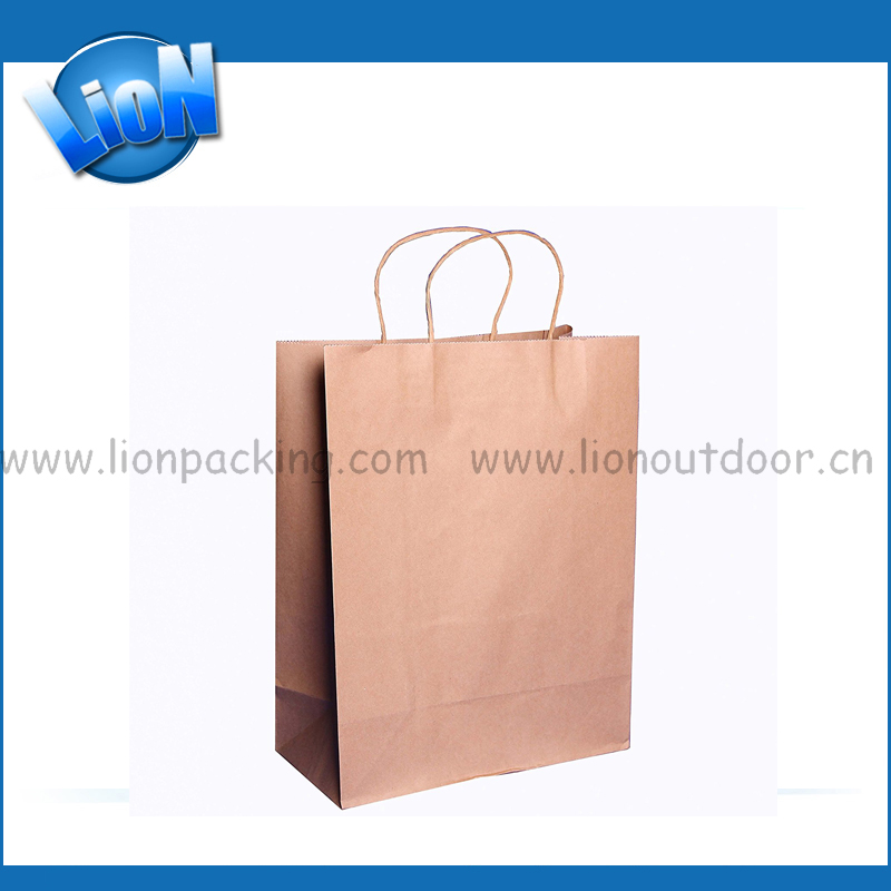 Kraft paper christmas gift packaging use paper bag
