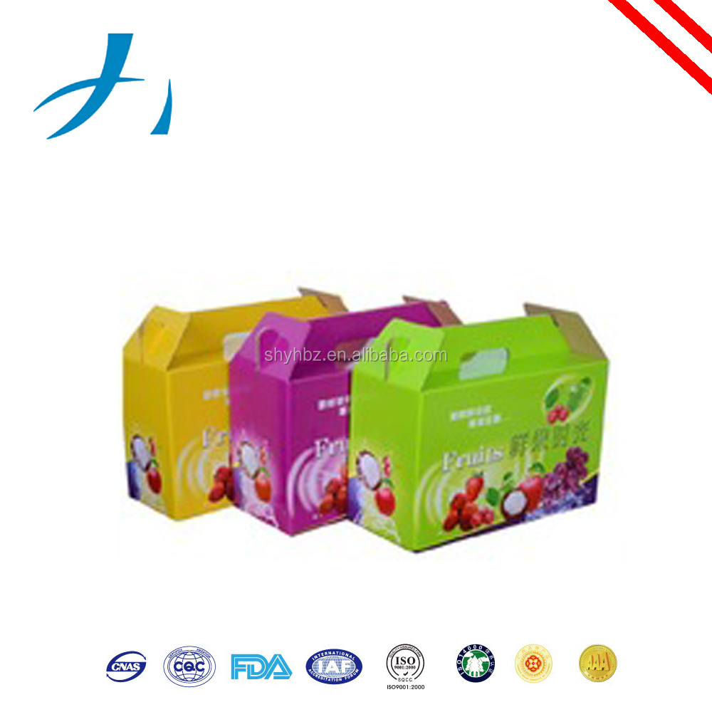 Fresh fruit corrugated outer carton box packaging/Fruit packing window color printing corrugated box