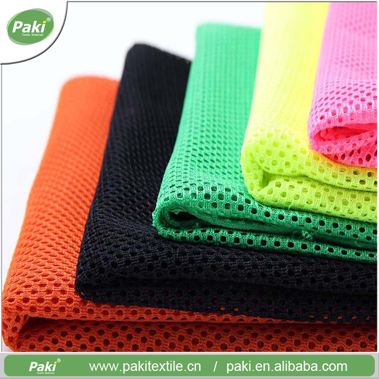 Manufacturer cheap soft high grade quick dry sports double mesh fabric