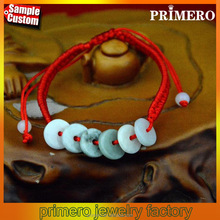Wealth jade knot woven women wholesale red string bracelet new arrival
