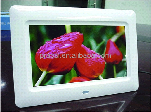 super slim portable and desktop 16:9 electronic picture frame Internal HD videoplayer 720P