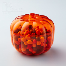 Kwang Hsieh Pumpkin Shaped Transparent Food Grade Plastic Container