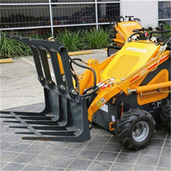 HYSOON compact skid steer loader with lawn mower