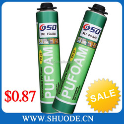 750ml/500ml high density polyurethane foam adhesive